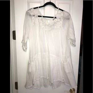 Free People White Gauze Dress